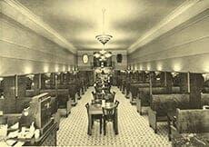 Interior of the Moderne Restaurant