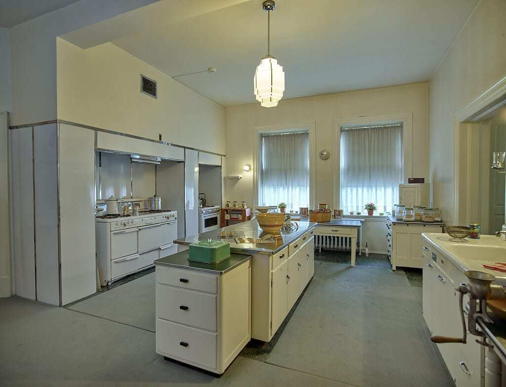 One Of The More Interesting Features Of The Kitchen Is The 10 Door  Refrigerator, Which Originated As The Homeu0027s Icebox. The Green Linoleum Was  Added During ...